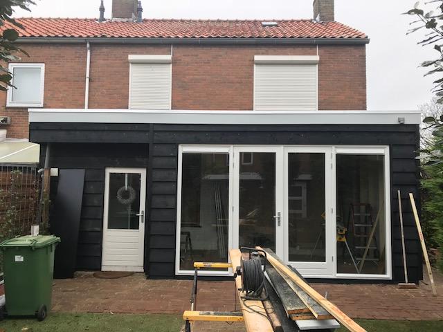 Aanbouw stage 3. ramen, deuren en verf