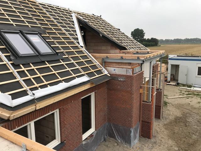 Nieuwbouw villa bijna af